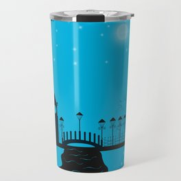 Winter night . Christmas. Travel Mug