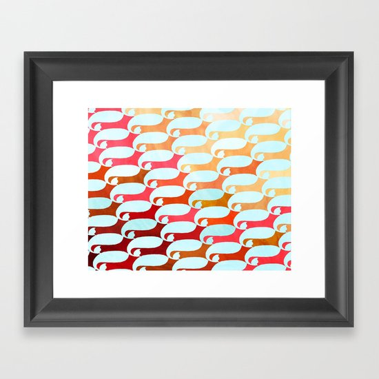 Blue Whale & Red Fox Framed Art Print
