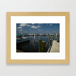 Port Framed Art Print