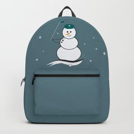 Golfing Snowman Backpack