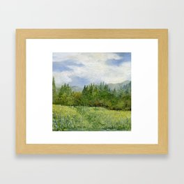 Underhill Fields Framed Art Print