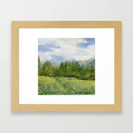 Underhill Fields Framed Art Print