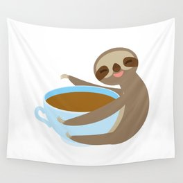 sloth & coffee 2 Wall Tapestry