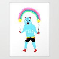 yolo Art Prints featuring Yolo by Saif Chowdhury