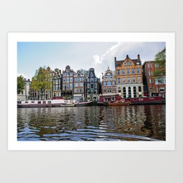 Dancing Houses of Amstedam Art Print