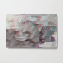 Lotus Glitch Metal Print