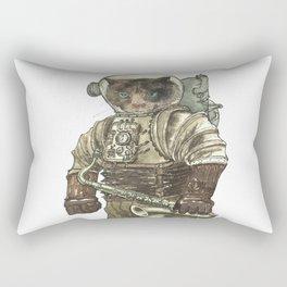 Space Cat with Saxophone Rectangular Pillow