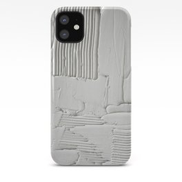 Relief [3]: an abstract, textured piece in white by Alyssa Hamilton Art  iPhone Case