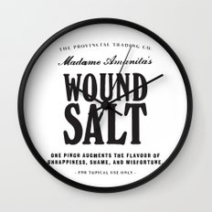 Wound Salt Wall Clock