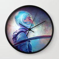 silence of the lambs Wall Clocks featuring silence by loish