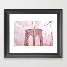 the lady from brooklyn Framed Art Print