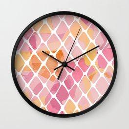 Watercolor Pattern Wall Clock