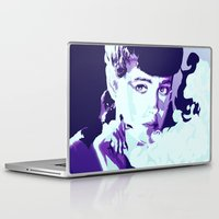 blade runner Laptop & iPad Skins featuring RACHAEL // BLADE RUNNER by mergedvisible