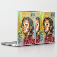 ahs Laptop & iPad Skins featuring AHS Hotel-LadyGaga as Young Elizabeth by Abhivision