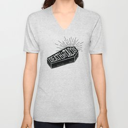 Death by Tacos Unisex V-Neck