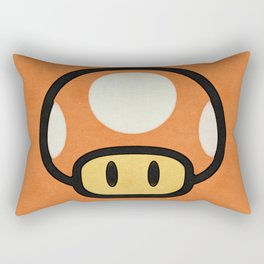 Mushroom Red/Orange Rectangular Pillow
