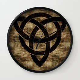 Wooden Celtic Knot Wall Clock