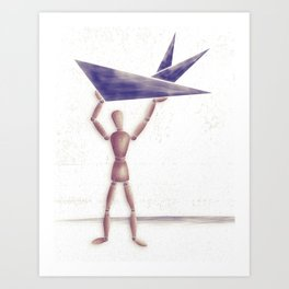 Man With Triangles  Art Print