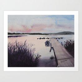 Dusky Dore Lake Art Print