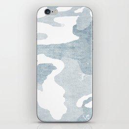 Chambray camo iPhone Skin