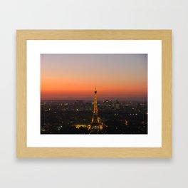 A Night in Paris. by Michelle McLaughlin. Framed Art Print