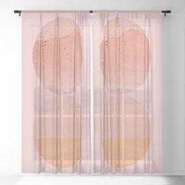 Abstraction_Circles_ART_Minimalism_001 Sheer Curtain