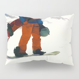Ready to Ride! - Snowboarder Pillow Sham