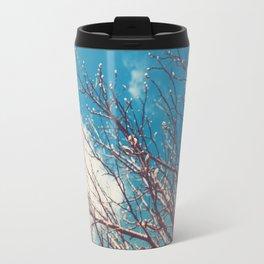 Spring Trees Buds Sunny Day Blue Sky Travel Mug