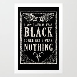 "Tshirt Design ""The Goth Color Palette"" Art Print"