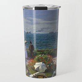Garden at Sainte-Adresse by Claude Monet Travel Mug