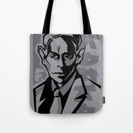 Kafka portrait in Black & Dark Greys Tote Bag