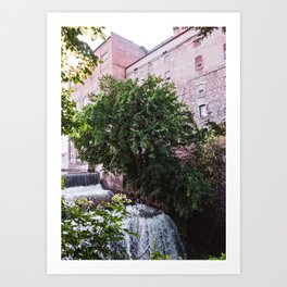 Waterfall and the Mill Art Print