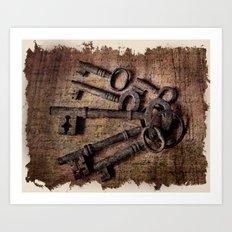 Antique Keys Art Print