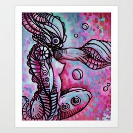 """""""The Ocean Temptress"""" (Raspberry) Art Print"""