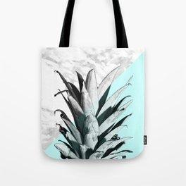 Pineapple Top Marble Pastel Blue Tote Bag