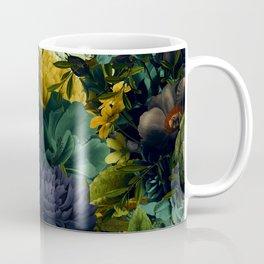 melancholy flowers big seamless pattern 01 tension green Coffee Mug