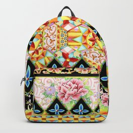 Folkloric Crazy Quilt (printed) Backpack