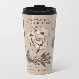 Flowering Spring Trees Metal Travel Mug
