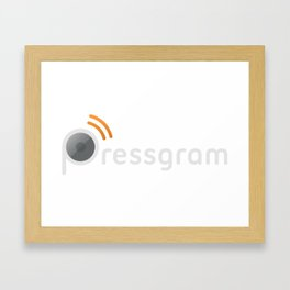 Pressgram Logo Framed Art Print