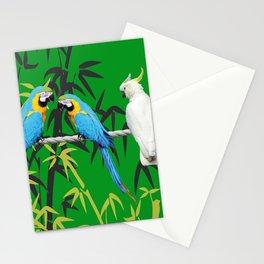 Kakadu - Macaw Bamboo Rope Jungle green Stationery Cards