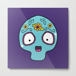 Cute Skull Metal Print