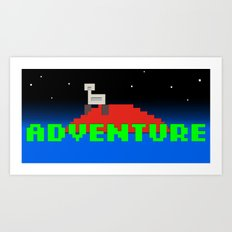 8-Bit Adventure On Mars Art Print