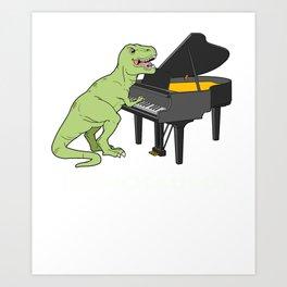 Piano Gift Print Pianist Pianosaurus T Rex Piano Player Tee Art Print