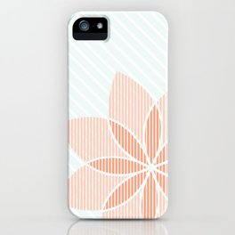 Floral Stripes iPhone Case