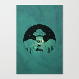 """Take Me Away"" UFO (Colour) Canvas Print"