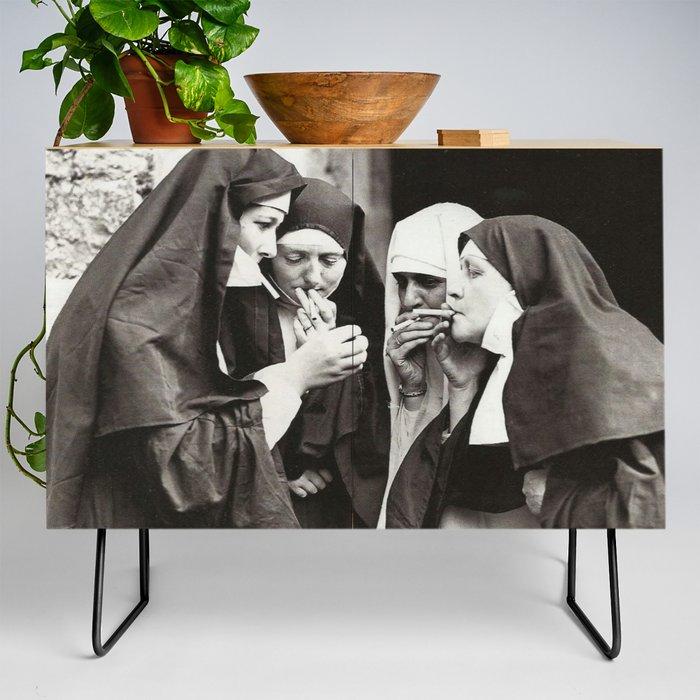 Nuns_Smoking_Credenza_by_FAMOUS_RESTORED_ART__Black__Birch