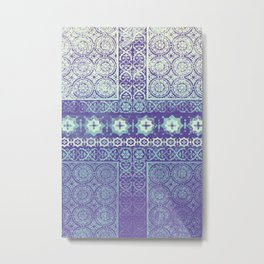 stars with tile patchwork in mauve Metal Print