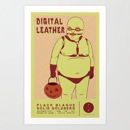 Digital Leather @ House of Loom Art Print