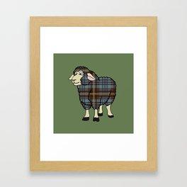 Faded Johnston Tartan Sheep Framed Art Print