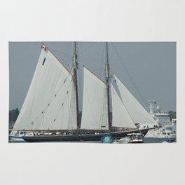 Sailing Boat in Norfolk Rug